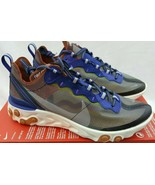 Nike React Element 87 ISPA Dusty Peach Gray Shoes Sneakers AQ1090-200 Si... - $197.95