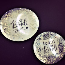 Team Bride Ultra Sparkle Pins, Bachelorette Party, Hen Night Badges, Bri... - $8.00
