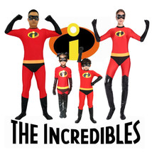 Hot The Incredibles Super Heros Kids Adult Size Suits Cosplay Costume Ha... - $53.99