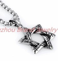 Stainless Steel 316L Star Of David w Rolo Chain - $22.44