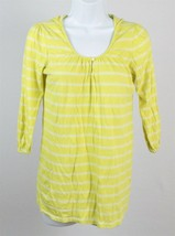 Old Navy Womens Yellow & White Hooded Maternity Shirt Size Small - $12.86