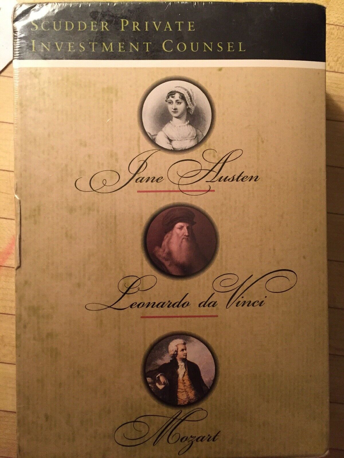 Primary image for Set of 3 Box Lot Mozart Da Vinci Jane Austen Scudder Private Investment Counsel