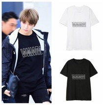KPOP WANNA ONE KANG DANIEL T-shirt TO BE ONE Ablum Letter Tee Cotton Tshirt - $12.07