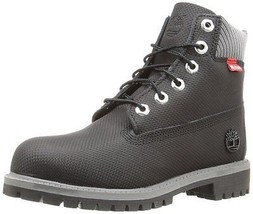 Timberland Little Kids 6 Inch Premium Waterproof Boot Black Relief Helco... - $1.518,42 MXN