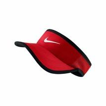 NEW! Nike Adult Featherlight Tennis Visor-University Red/Black 744957-65... - $59.28