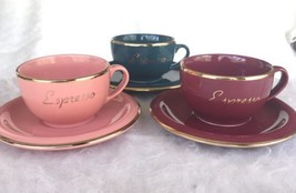 Winterling Germany Gold Trimmed Set of Three Espresso Cups with Matching... - $29.70