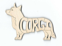 Corgi Cardigan Dog laser cut and engraved wood Magnet - $7.51