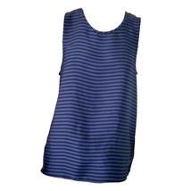 Michael Kors Womens Black Blue Striped Tank Top Sz L - $19.80