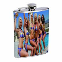 Switzerland Pin Up Girls D6 Flask 8oz Stainless Steel Hip Drinking Whiskey - $12.82