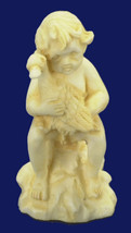 DOLLHOUSE MINIATURE 1:12 SCALE 1 PC IVORY BOY WITH DUCK STATUE  #WA1442IV - $6.24