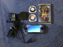 SONY Handheld PSP-1001 Video Game System 2 Games 32 MB Memory Card Batte... - $85.00