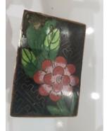 Vintage Chinese/ Japanese Cloisonne Enamel Box Match Holder / Case / Ves... - $76.32