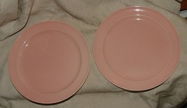 """1943 TS&T LURAY Pastels 2 PINK 9"""" LUNCHEON PLATES Taylor Smith & Taylor - $27.72"""
