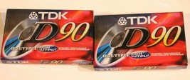 TDK Audio Cassette Tapes Lot of 2 90 minute tapes High Output - $5.45