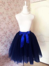 Navy blue Women Cheap Tulle Skirt Custom Size Navy Midi Tulle Skirt NWT