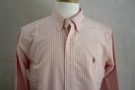 Ralph Lauren Men's Long Sleeve Custom Fit Button Down Dress Shirt L - $19.79