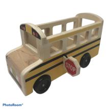 Melissa & Doug Wooden Classic School Bus Only No Figures - $4.00