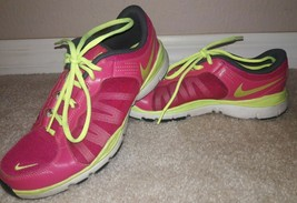 Nike Training Flex TR2 Sneakers Pink Yellow 511332-632 Sz Womens 8 Athle... - $11.87