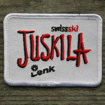 JUSKILA Swiss SWITZERLAND Ski Camp Patch Skiing LENK Travel Vintage - $12.55