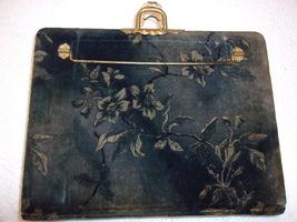 1890's Victorian Blue Floral Velvet Photo Album w/Latch & Handle-One Pho... - $36.00