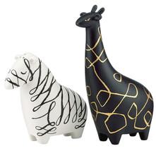 Kate Spade Woodland Park Zebra Giraffe Salt & Pepper Shaker Set New In Box - $48.90