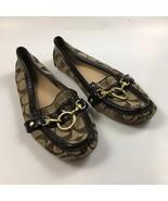 Coach Sophy Size 6B Brown Driving Loafer Mocassin Slip On Shoe - $32.52