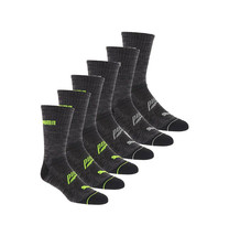 Puma Men's 6 Pack Sportstyle Gym Moisture Control Cushioned Athletic Gray Socks image 2