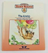 1985 Childrens Book Teddy Ruxpin Bear Worlds of Wonder The Airship No Ca... - $8.65