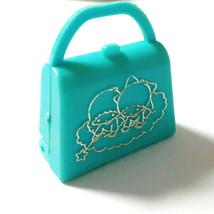 Little Twin Stars Miniatur Bag Old SANRIO 1976 Vintage Retro Appendix Blue - $51.43