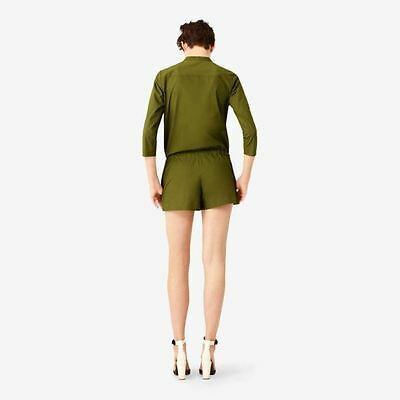 KATE SPADE Saturday Romp-Around ROMPER 1-Piece OLIVE Drawcord Waist S FREE SHIP