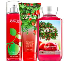 Bath & Body Works Country Apple Trilogy Set - $39.15