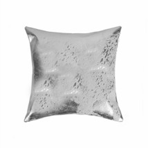 """HomeRoots Kitchen 18"""" x 18"""" x 5"""" Hypo-Allergenic Gray and Silver Cowhide Pillow - $71.31"""