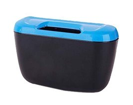 PANDA SUPERSTORE Fashionable Car Trash Cans/Green Box/Storage Box, Blue