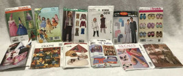 Lot of 12 Sewing Patterns McCalls Simplicity  Butterick Keillor Sew Uncu... - $93.49