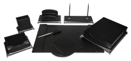 Majestic Goods 8 Piece  Black and Silver Executive Office Desk Set - €117,68 EUR