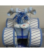 Royal Blue , Light Blue and Grey Themed Baby Shower Four Wheeler Diaper ... - $50.00