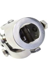 """Forged Stainless Steel YokesSteering Shaft Universal  U-JOINT 1"""" DD TO 1"""" DD image 9"""