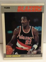 Clyde Drexler 1987-88 Fleer Basketball #30 Portland Trailblazers NBA HOF - $12.99