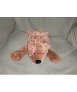 NICI STUFFED PLUSH TEDDY BEAR BROWN TAN FLUFFY FURRY SOFT SHAGGY CUDDLY ... - $15.47