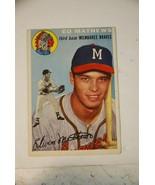 1954 Topps Eddie Mathews Baseball Card #30 Milwaukee Braves EX - $32.73