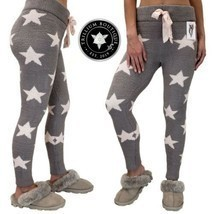 Honeydew Women's Chenille Lounge Leggings Gray (Stars) XXL Polyester NWT - $69.27