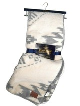 Pendleton cream / grey Sherpa Fleece Southwest reversible Blanket throw ... - $128.37