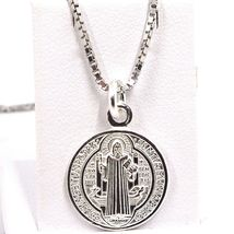 Venetian Chain 50 CM, MEDAL ST. BENEDICT, CROSS, SILVER 925 necklace image 11