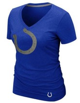 New Womens Nike Blue Indiianapolis Colts Reverse Logo Triblend Tee 30% Off MSRP - $24.49
