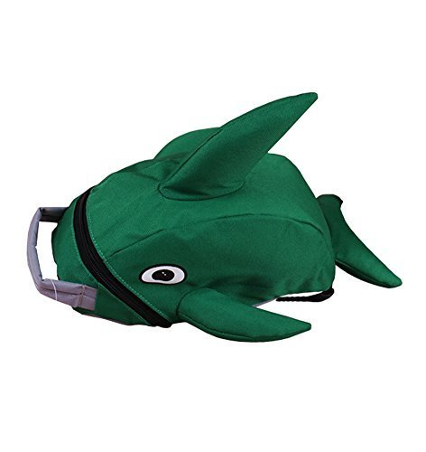 Lovely Dolphin Knapsack Kindergarten School Bag, Green(2319 cm)