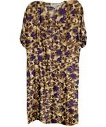 Womens Casual Button Down Tea Dress Vintage Retro Size Large Trendy Look... - $9.90