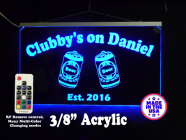 Personalized LED Man Cave Sign- Beer can Bar Sign, Home Bar sign. Neon - $96.03+