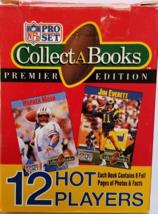 NFL Pro Set Collect A Books Premier Edition 1990 12 Hot Players - $6.95