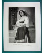 LOVELY MAIDEN Italian Peasant Girl - Antique Photogravure Print - $14.85