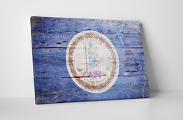 Vintage Virginia State Flag Gallery Wrapped Canvas Wall Art - $44.50+
